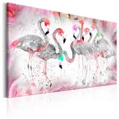 Artgeist Wandbild - Flamingoes Family
