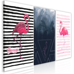 Artgeist Wandbild - Flamingos (Collection)