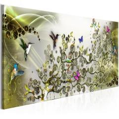 Artgeist Wandbild - Hummingbirds Dance (1 Part) Green Narrow