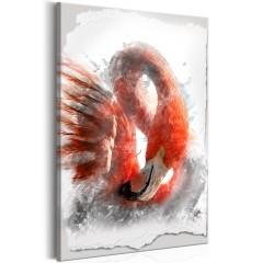 Artgeist Wandbild - Red Flamingo