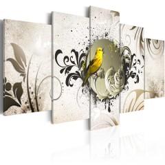 Artgeist Wandbild - Yellow bird