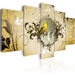 Artgeist Wandbild - Yellow bird singing