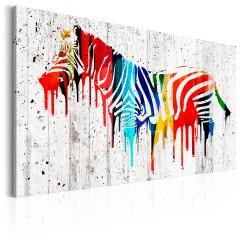 Artgeist Wandbild - Das bunte Zebra