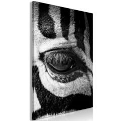 Artgeist Wandbild - Zebra Eye (1 Part) Vertical