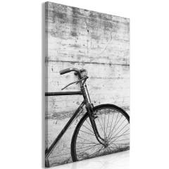 Artgeist Wandbild - Bicycle And Concrete (1 Part) Vertical