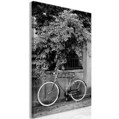 Artgeist Wandbild - Bicycle and Flowers (1 Part) Vertical