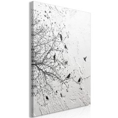 Artgeist Wandbild - Birds on Tree (1 Part) Vertical