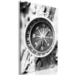 Artgeist Wandbild - Black and White Compass (1 Part) Vertical