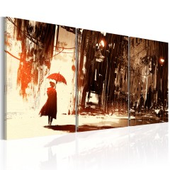 Artgeist Wandbild - City in the Rain