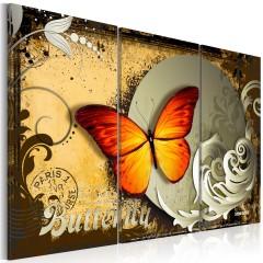 Artgeist Wandbild - Flight of a butterfly