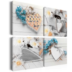 Artgeist Wandbild - Flowers and hearts
