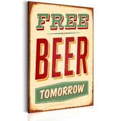 Artgeist Wandbild - Free Beer Tomorrow