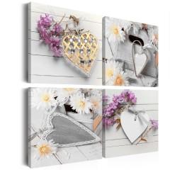 Artgeist Wandbild - Hearts and flowers