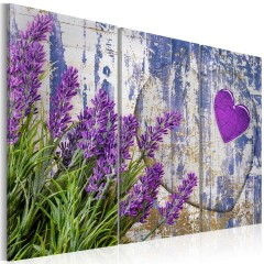 Artgeist Wandbild - Lavendelfeld