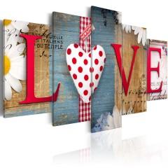 Artgeist Wandbild - LOVE - handmade