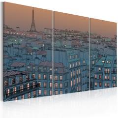Artgeist Wandbild - Paris - die Stadt geht zur Ruh