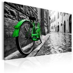 Artgeist Wandbild - Vintage Green Bike