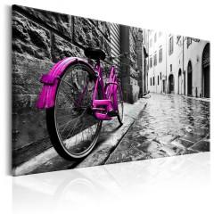 Artgeist Wandbild - Vintage Pink Bike
