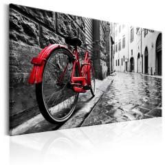 Artgeist Wandbild - Vintage Red Bike