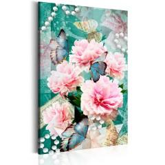 Artgeist Wandbild - Written in Flowers