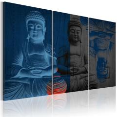 Artgeist Wandbild - Buddha - Skulptur