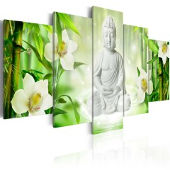 Artgeist Wandbild - Buddha and jasmine