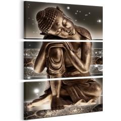 Artgeist Wandbild - Buddha at Night