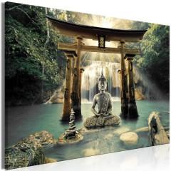 Artgeist Wandbild - Buddha Smile (1 Part) Wide