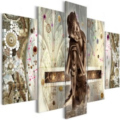 Artgeist Wandbild - Buddha's Dream (5 Parts) Wide