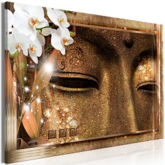 Artgeist Wandbild - Buddha's Eyes (1 Part) Wide