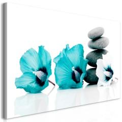 Artgeist Wandbild - Calm Mallow (1 Part) Turquoise