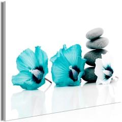Artgeist Wandbild - Calm Mallow (1 Part) Wide Turquoise