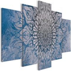 Artgeist Wandbild - Hypnosis (5 Parts) Blue Wide