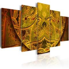 Artgeist Wandbild - Mandala: Golden Power