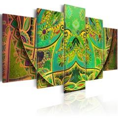 Artgeist Wandbild - Mandala: Green Energy