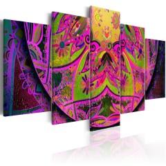 Artgeist Wandbild - Mandala: Pink Power