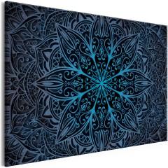 Artgeist Wandbild - Oriental Flowers (1 Part) Narrow Blue