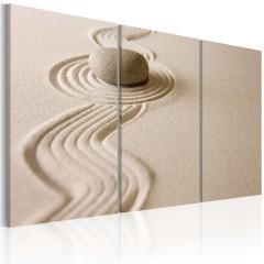 Artgeist Wandbild - Stein in der Wüste