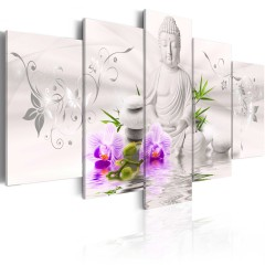 Artgeist Wandbild - White Buddha