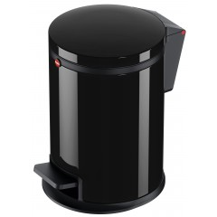 Hailo Pure S, schwarz, 3 Liter, Inneneimer: Kunststoff, Tret-Kosmetikeimer