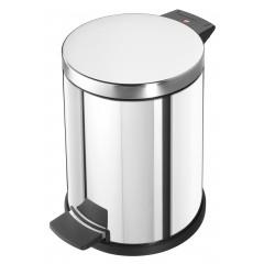 Hailo Solid M, Edelstahl, 12 Liter, Inneneimer: Kunststoff, Tret-Abfallsammler