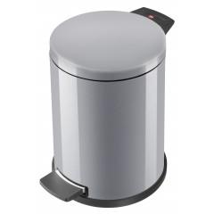 Hailo Solid M, silber, 12 Liter, Inneneimer: Kunststoff, Tret-Abfallsammler