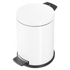 Hailo Solid M, weiß, 12 Liter, Inneneimer: Kunststoff, Tret-Abfallsammler