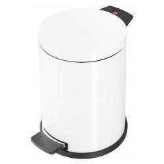 Hailo Solid M, weiß, 12 Liter, Inneneimer: verzinkt, Tret-Abfallsammler