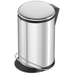 Hailo Harmony M, Edelstahl, 12 Liter, Inneneimer: Kunststoff, schwarz, Tret-Abfallsammler