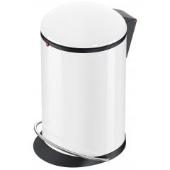 Hailo Harmony M, weiß, 12 Liter, Inneneimer: Kunststoff, schwarz, Tret-Abfallsammler