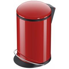 Hailo Harmony M, rot, 12 Liter, Inneneimer: Kunststoff, schwarz, Tret-Abfallsammler