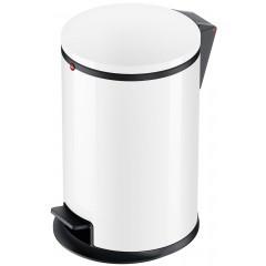 Hailo Pure M, Stahlblech weiß, 12 Liter, Inneneimer: Kunststoff, schwarz, Tret-Abfallsammler