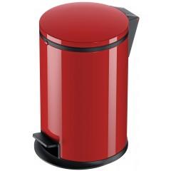 Hailo Pure M, Stahlblech rot, 12 Liter, Inneneimer: Kunststoff, schwarz, Tret-Abfallsammler