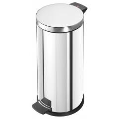 Hailo Solid L, Edelstahl, 18 Liter, Inneneimer: verzinkt, Tret-Abfallsammler